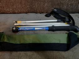 Ohuhu Trekking Pole Duralumin 7075 T6, 5 Section Collapsible