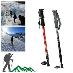 Trekking Pole Walking Hiking Stick 3 Section Adjustable Retr