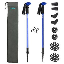 Trekking Poles by Vive -  Ultralight Antishock Walking Stick