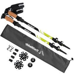 Trail Buddy Trekking Poles 2 Pack Walking Sticks Aluminum 70