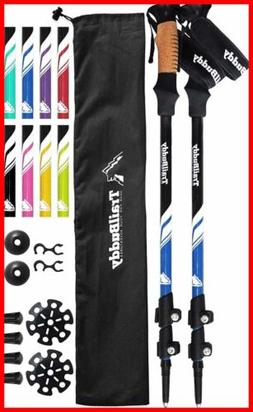 Trailbuddy Trekking Poles 2 Pc Pack Adjustable Hiking Or Wal