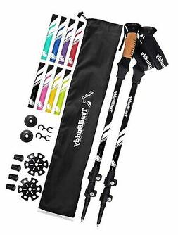 TrailBuddy Trekking Poles - 2-pc Pack Adjustable Hiking or W