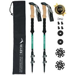 4EVER Outdoor Trekking Poles - Collapsible Ultralight Alumin