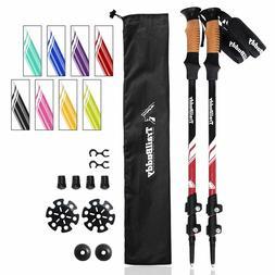 trekking poles adjustable hiking walking sticks strong