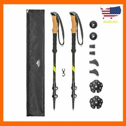 Cascade Mountain Tech Trekking Poles - Carbon Fiber Strong A