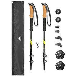 trekking poles carbon fiber strong adjustable hiking