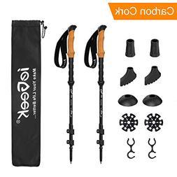 ieGeek Trekking Poles Carbon Fiber - 2-pc Pack Adjustable Hi