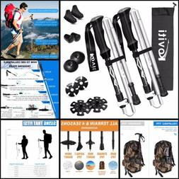 Koviti Trekking Poles Collapsible Hiking Poles - 2 Pack Aumi