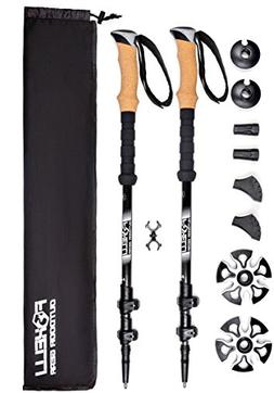 Foxelli Trekking Poles – Collapsible Lightweight Shock-Abs