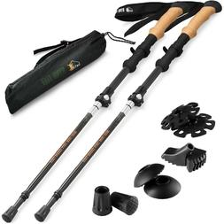 Ryno Tuff Trekking Poles, Durable Carbon Fiber Hiking Pole w