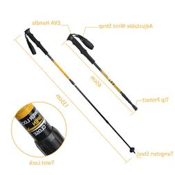 Trekking Walking Hiking Sticks Pole Retractable Anti-shock E