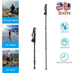 Trekking Walking Hiking Sticks Poles Alpenstock Anti-shock 3