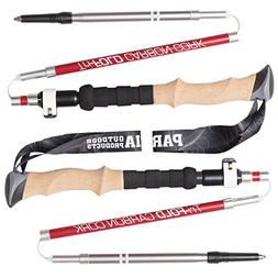 Tri-Fold Carbon Cork Trekking Poles - Collapsible, Adjustabl