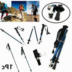 1pc Tri-Fold Carbon Fiber Trekking Poles Hiking Climbing Wal