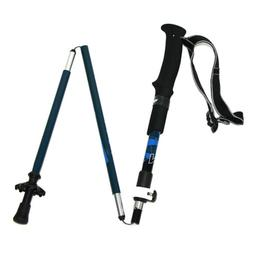 Tri-Fold Carbon Fiber Trekking Pole Stick Collapsible Adjust