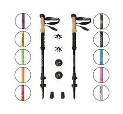 Montem Ultra Strong Trekking Poles Black One Pair Walking Po