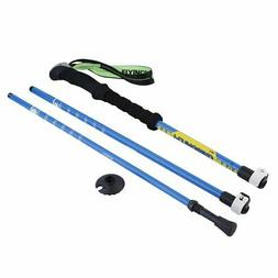 2Pcs Trekking Poles Adjustable Hiking Walking Strong, Lightw