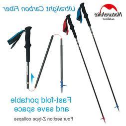 Ultralight Carbon Fiber Trekking Walking Hiking Sticks Poles
