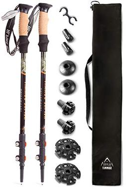 trekking poles Premium Ultralight w/Cork Grips - Your Collap