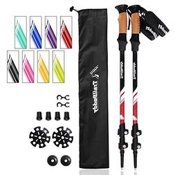 TrailBuddy Walking Poles - 2-pc Pack Collapsible Trekking or
